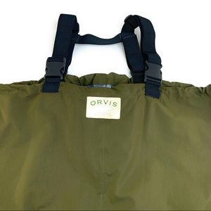Orvis Large Fly Fishing Waders Olive Green